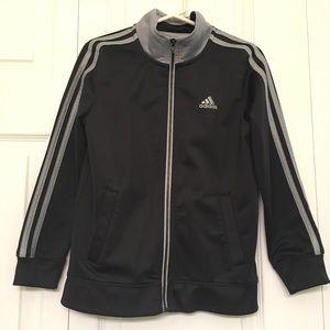 Kid's Black & Silver Adidas Jacket